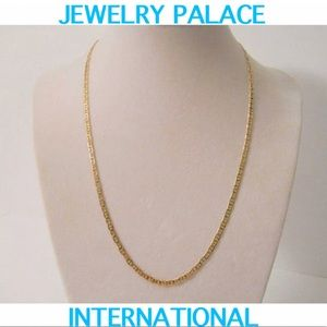 🆕14K Gold Filled Flat Mariner Unisex Necklace.